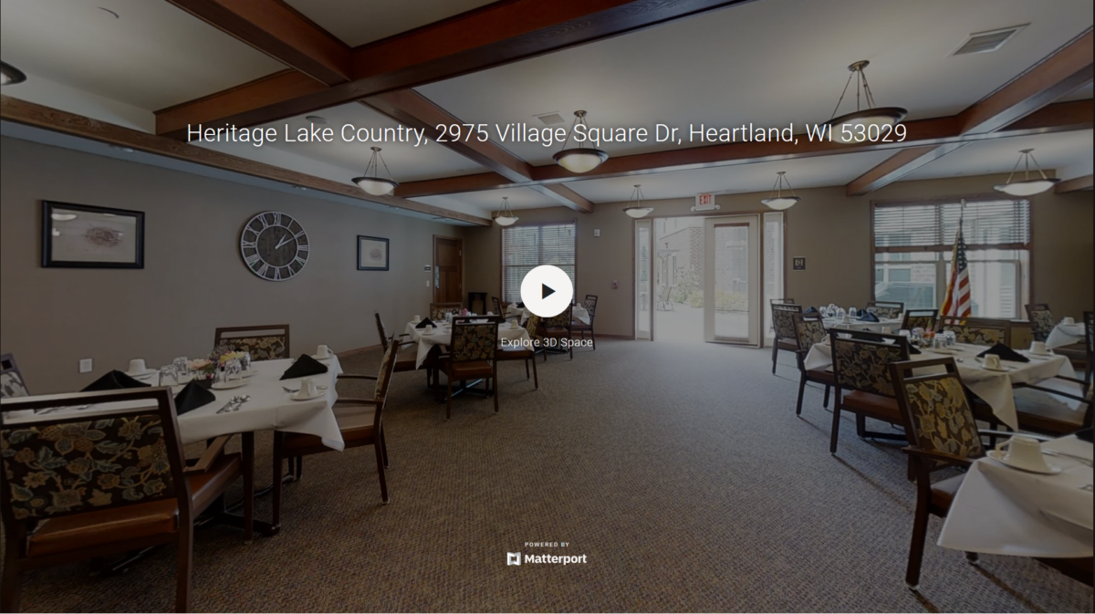 A 3D virtual tour of our Heritage Lake Country's senior living community.