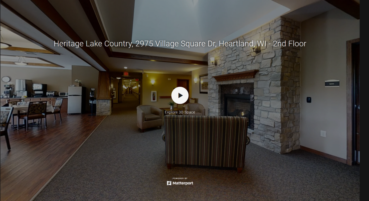 A 3D tour of Heritage Lake County's second floor.