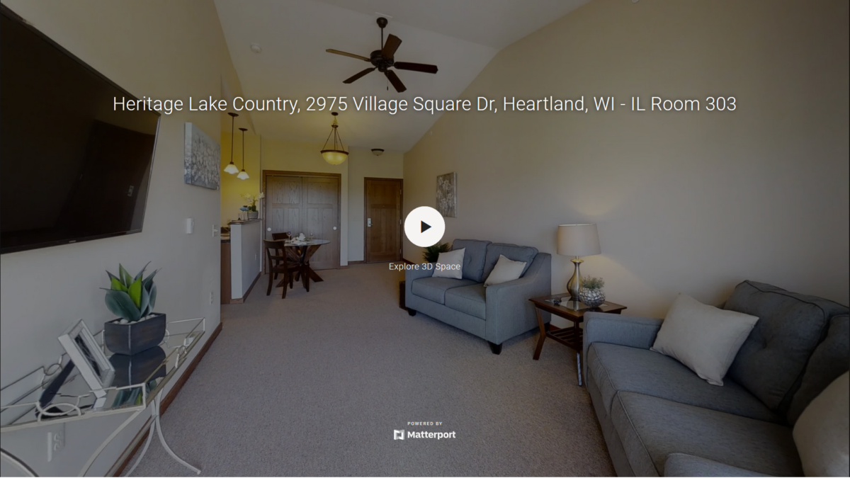 A virtual tour of our Heritage Lake Country independent living apartments.