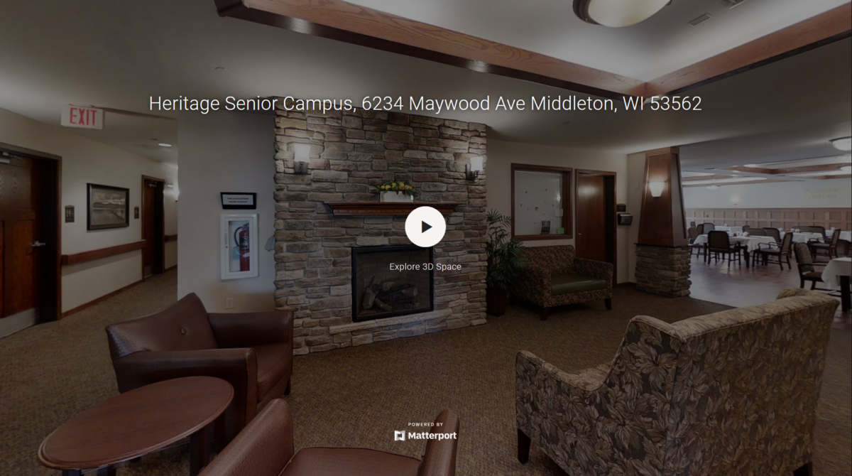 A 3D virtual tour of the Heritage Middleton community's first floor.