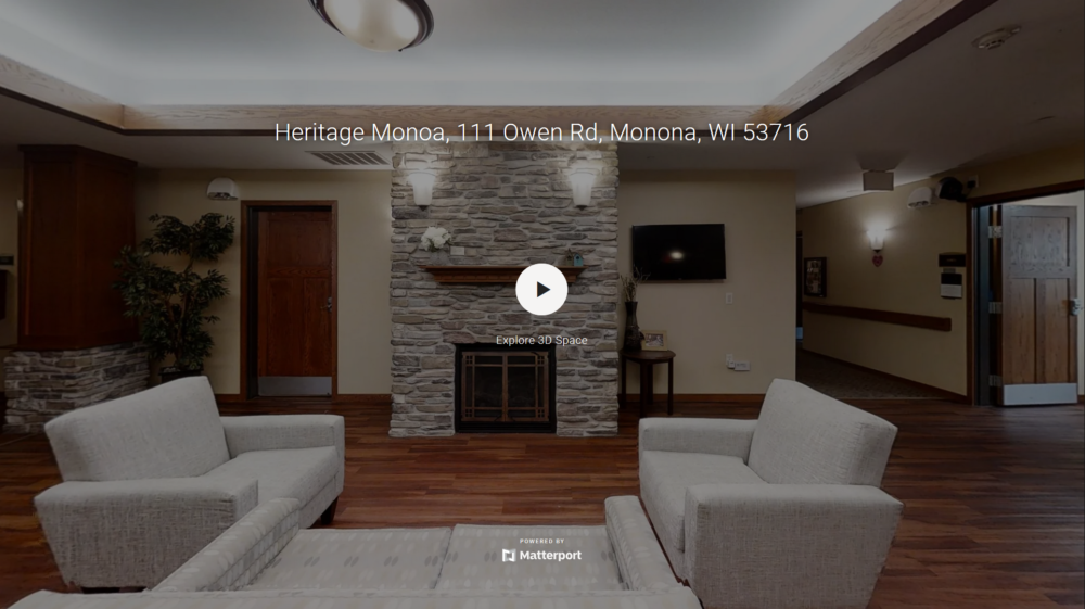 A 3D virtual tour of Heritage Monona's first floor.