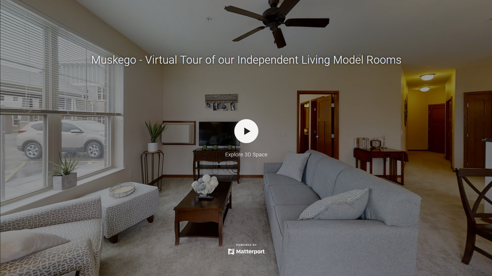 A 3D virtual tour of Heritage Muskego's independent living model rooms.