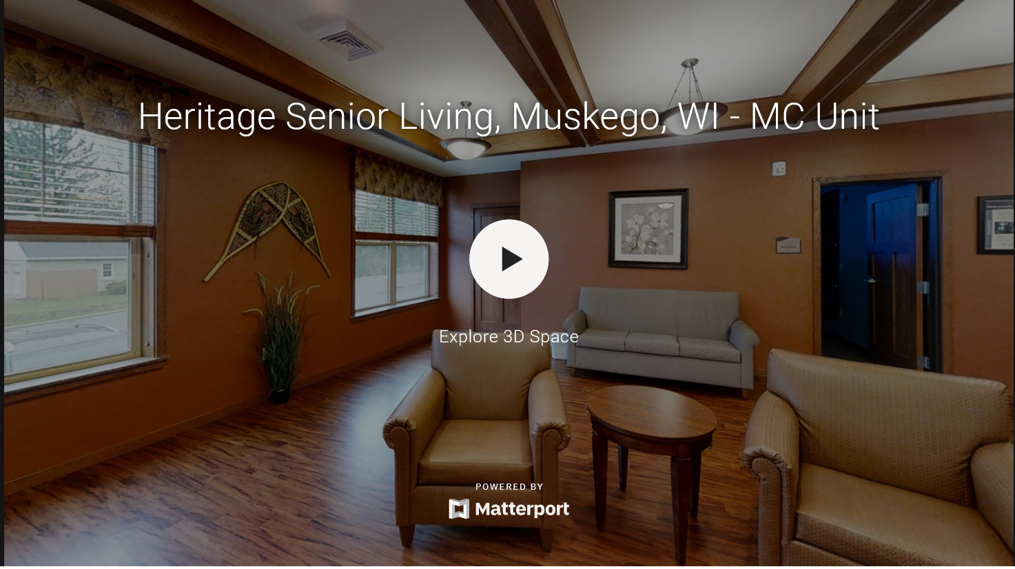 A 3D virtual tour of Heritage Muskego's memory care unit.