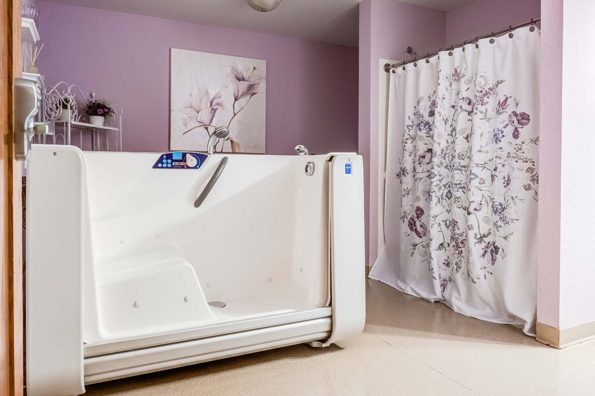Spa rooms provide our residents a relaxing environment at Heritage West Allis.