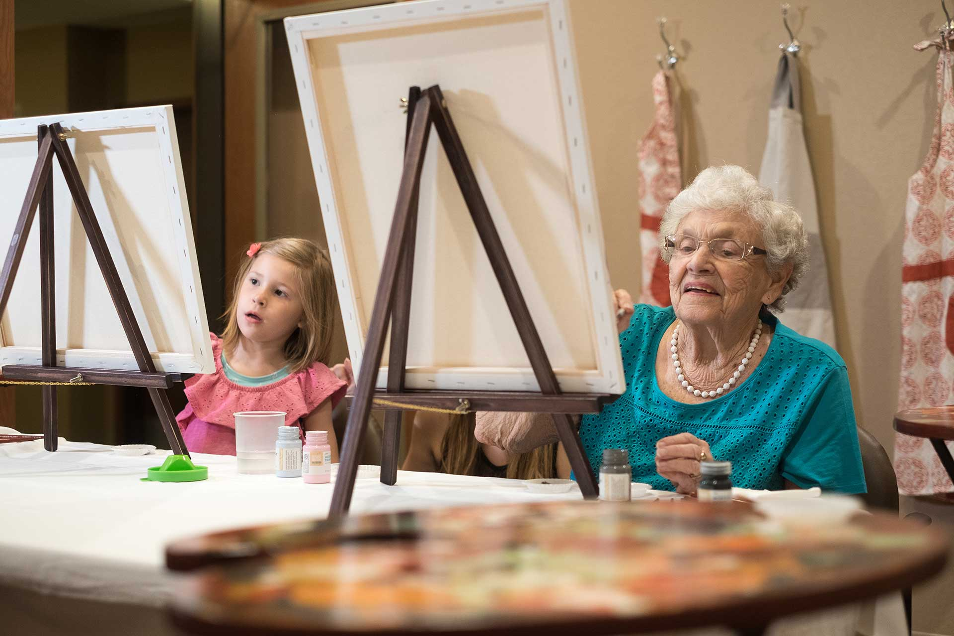 resident granddaughter painting