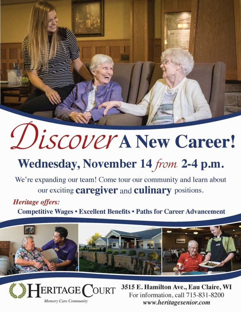 Heritage Court Eau Claire Career Discovery Event