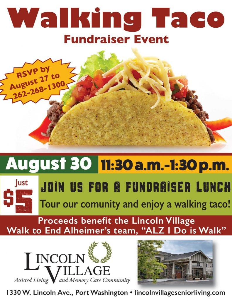 Lincoln Village Senior Living Walking Taco Fundraiser