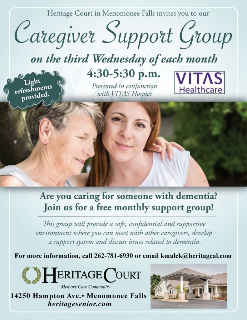 Heritage Court Menomonee Falls Caregiver Support Group