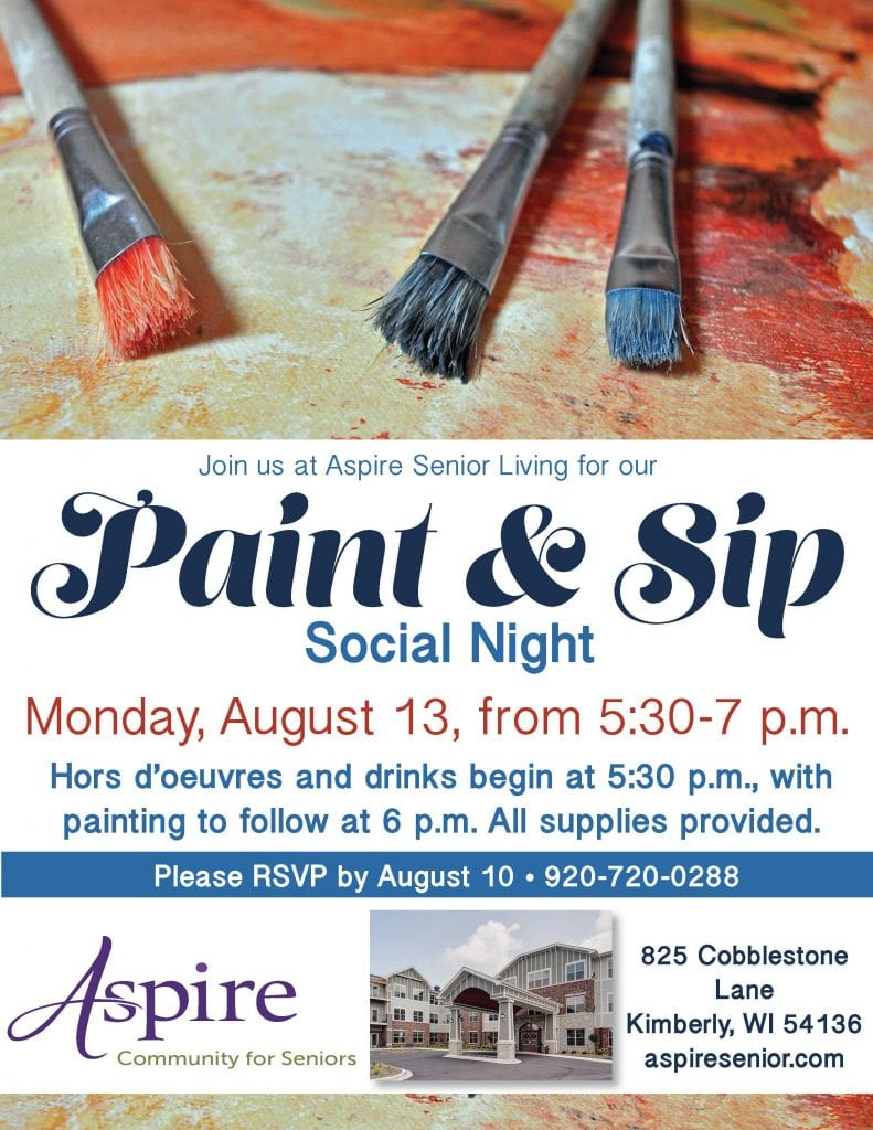 Aspire Senior Living Paint and Sip