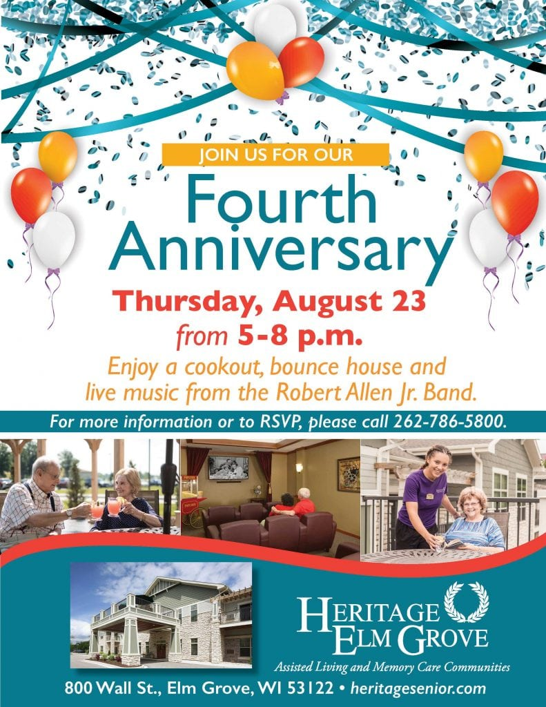 Heritage Elm Grove Fourth Anniversary Party