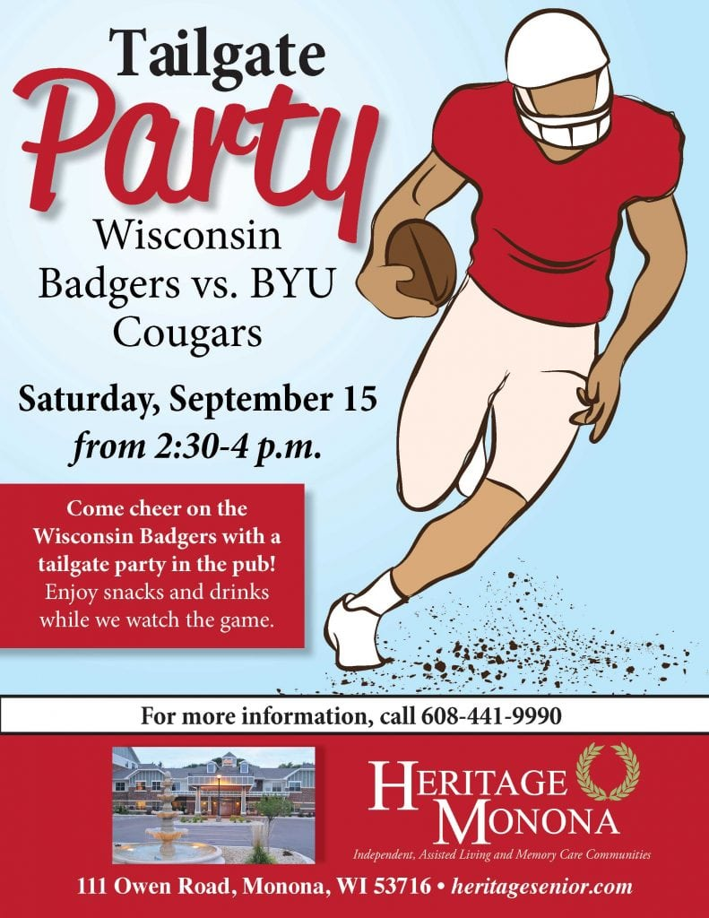 Heritage Monona Badgers Tailgate Party