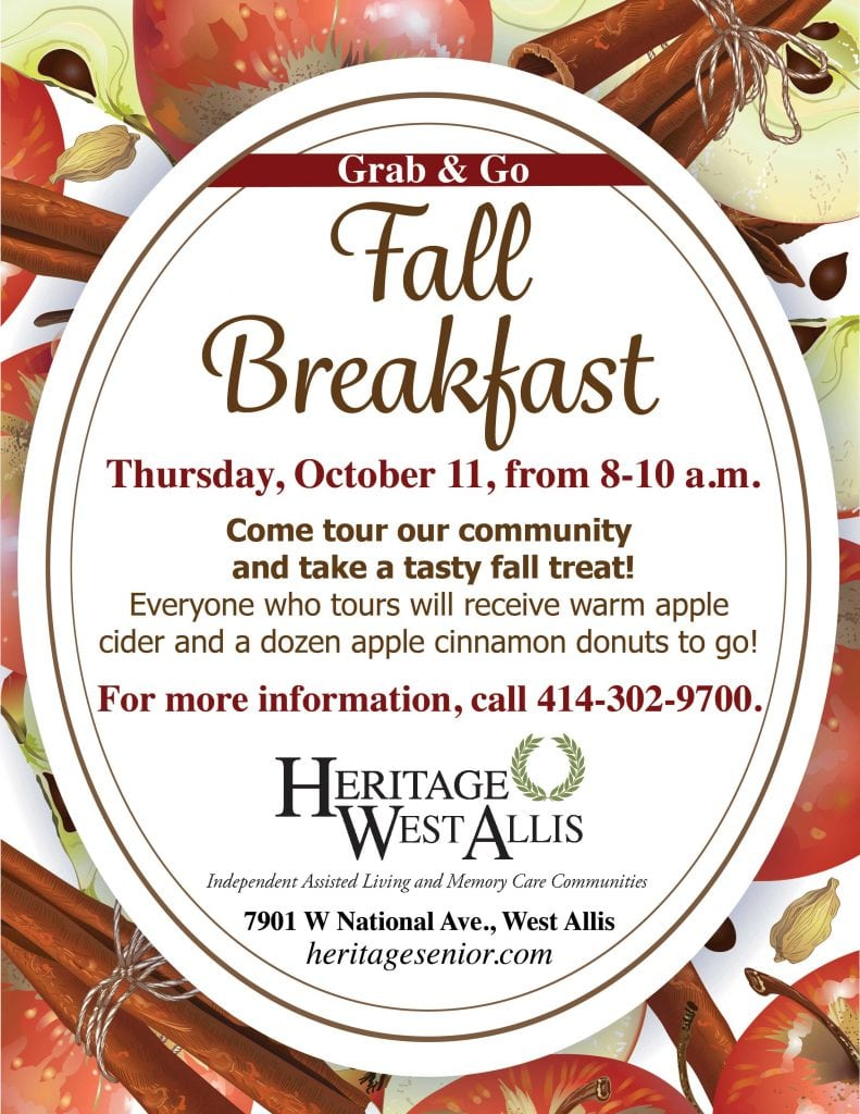 West Allis Fall Grab & Go Breakfast