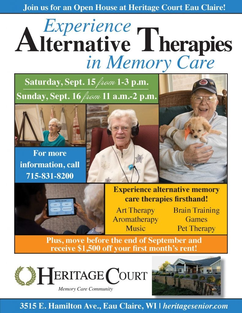 Heritage Court Eau Claire Alternative Therapies in Memory Care