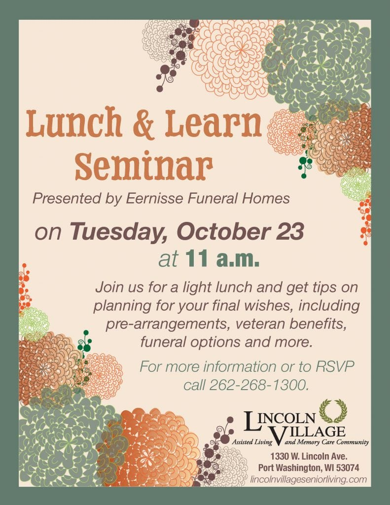 Lincoln Village Lunch and Learn Seminar