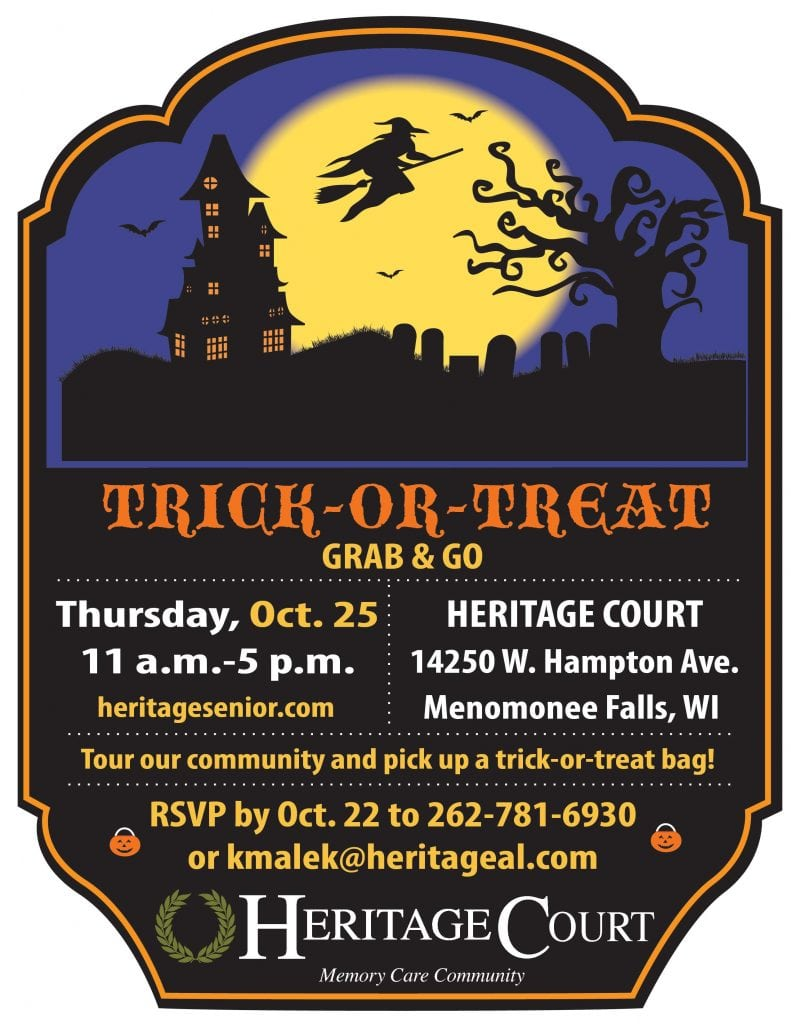 Heritage Court Menomonee Falls Grab & Go Trick or Treat