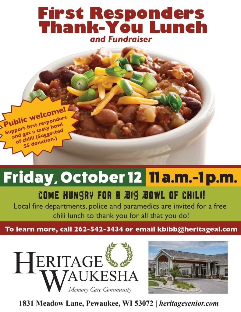 Heritage Waukesha First Responders Chili Lunch
