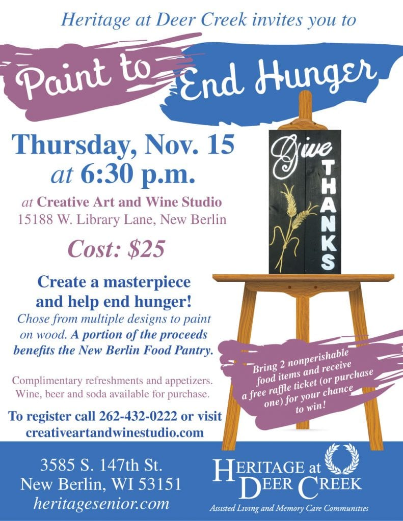Heritage at Deer Creek Paint to End Hunger