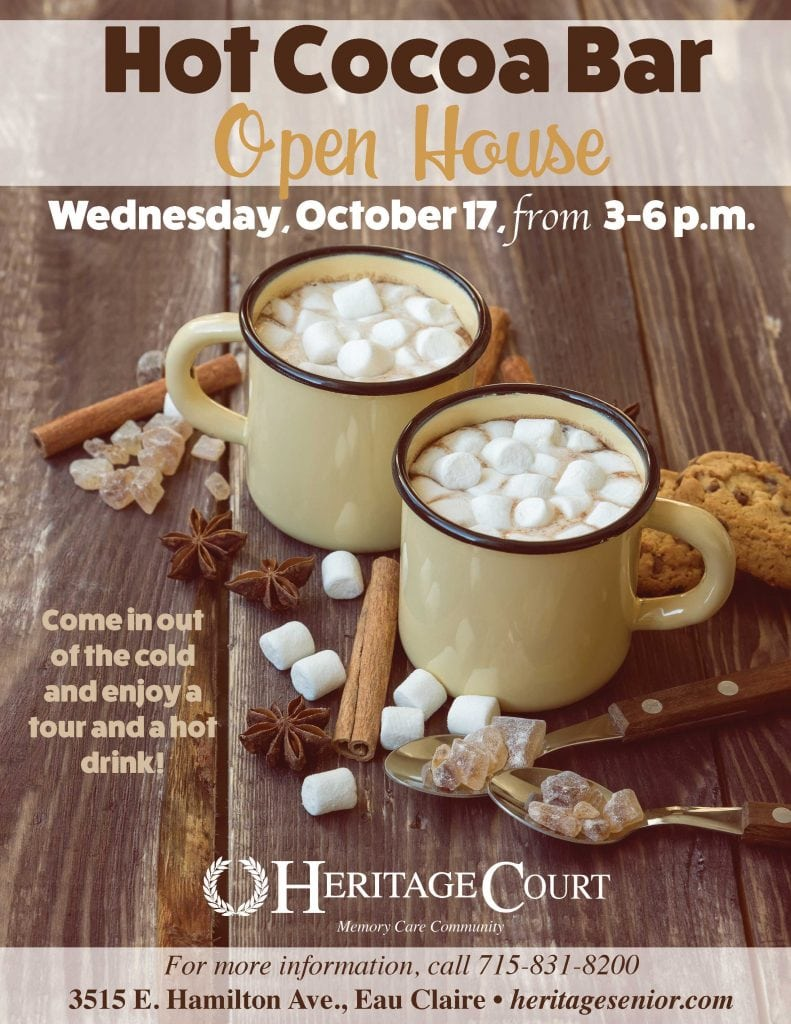 Heritage Court Eau Claire Hot Cocoa Bar Open House