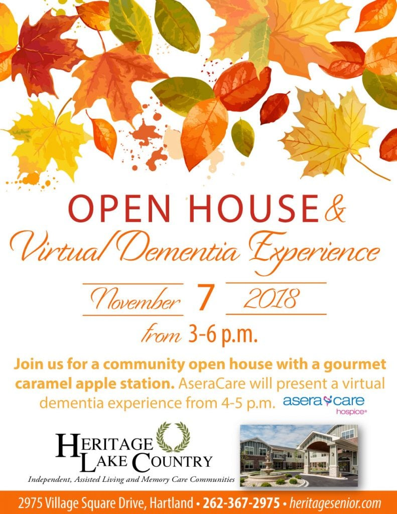 Heritage Lake Country Open House & Virtual Dementia Experience