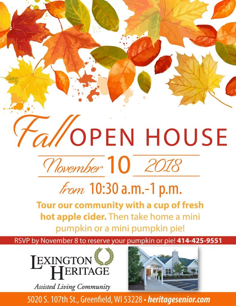 Lexington Heritage Fall Open House
