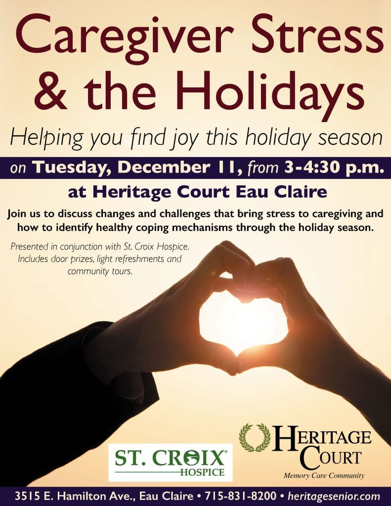 Heritage Court Eau Claire Holiday Caregiver Stress