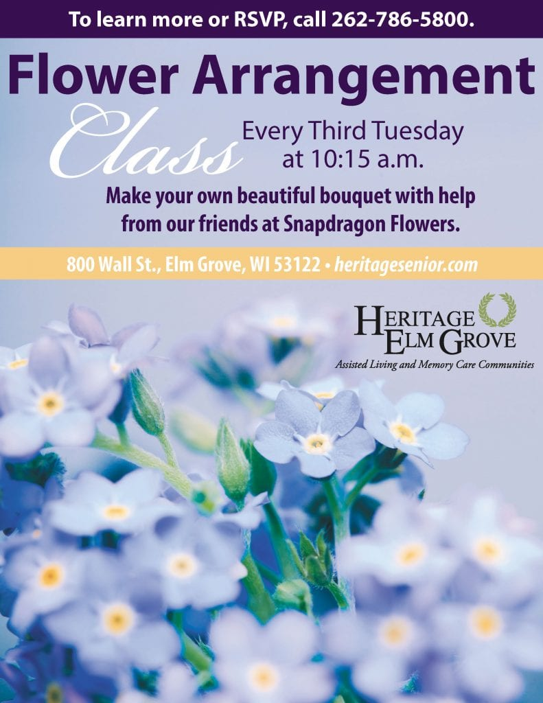 Heritage Elm Grove Flower Arrangement Class