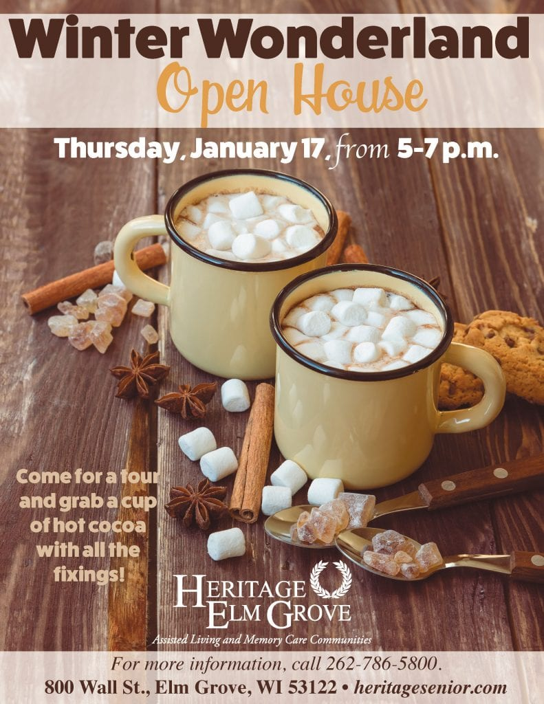 Heritage Elm Grove Winter Wonderland Hot Cocoa Open House