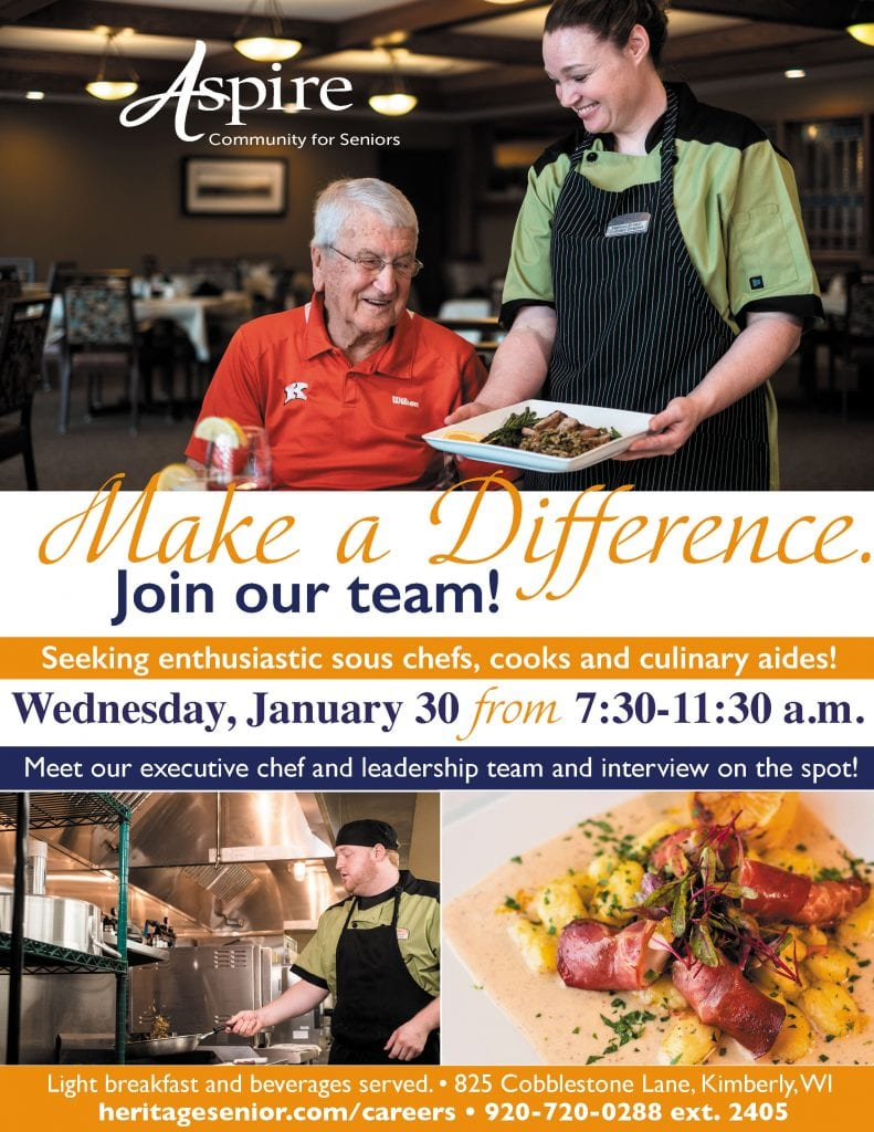Aspire Senior Living Culinary Career Discovery Hiring Event