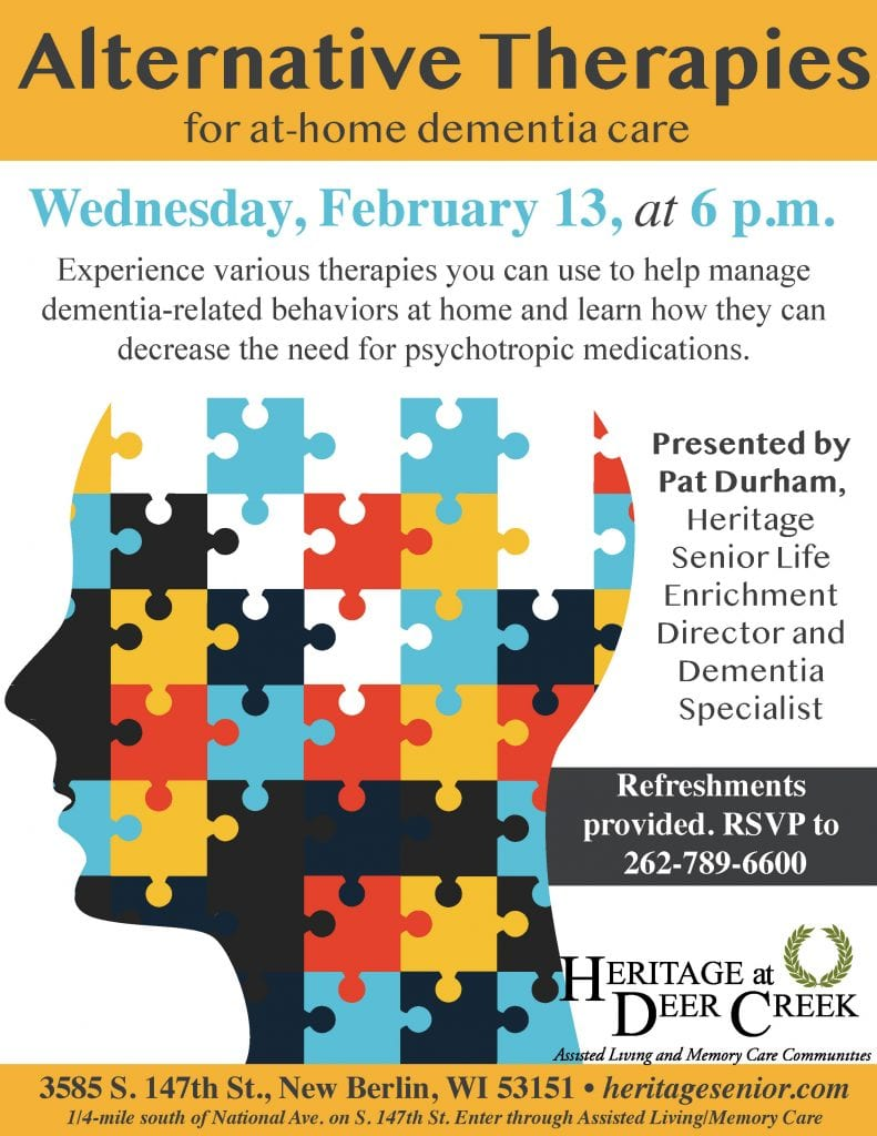 Heritage at Deer Creek Alternative Therapies for At-Home Dementia Care