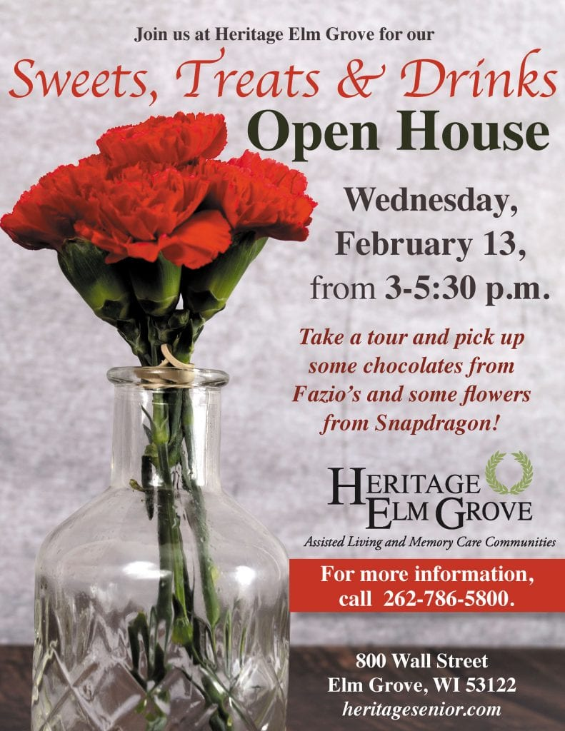 Heritage Elm Grove Sweets and Treats Open House