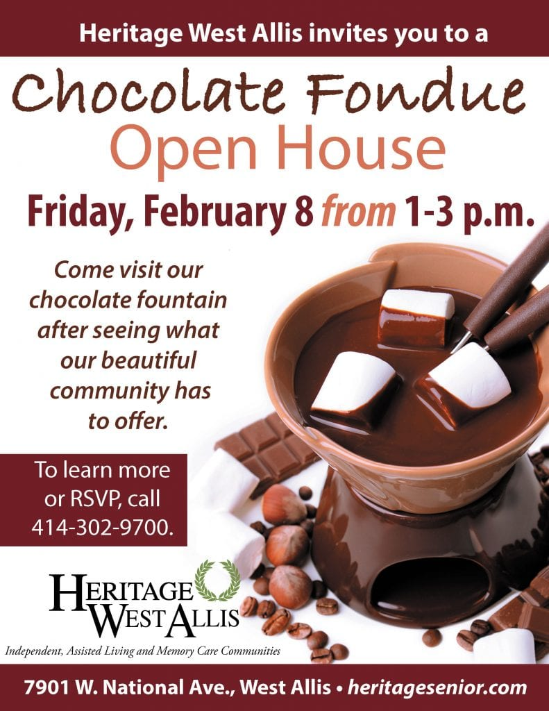 Heritage West Allis Chocolate Fondue Open House