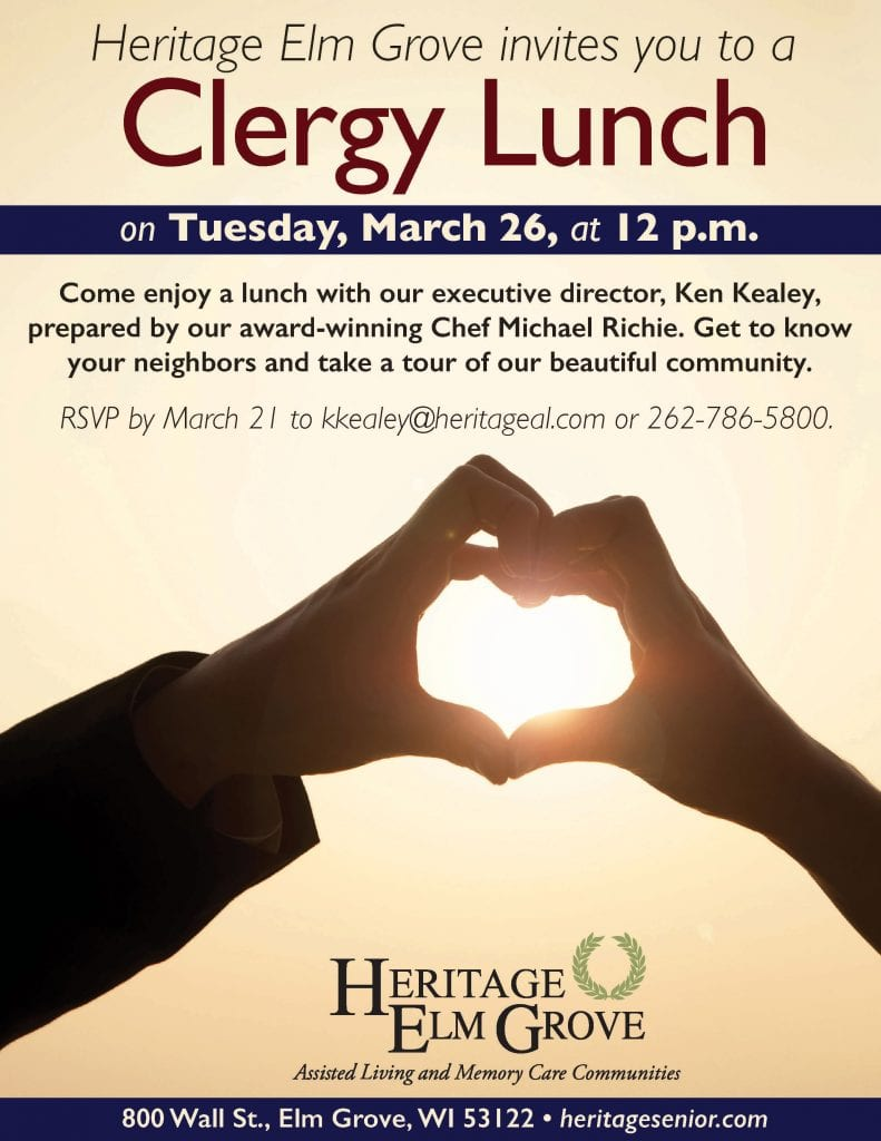 Heritage Elm Grove Clergy Lunch