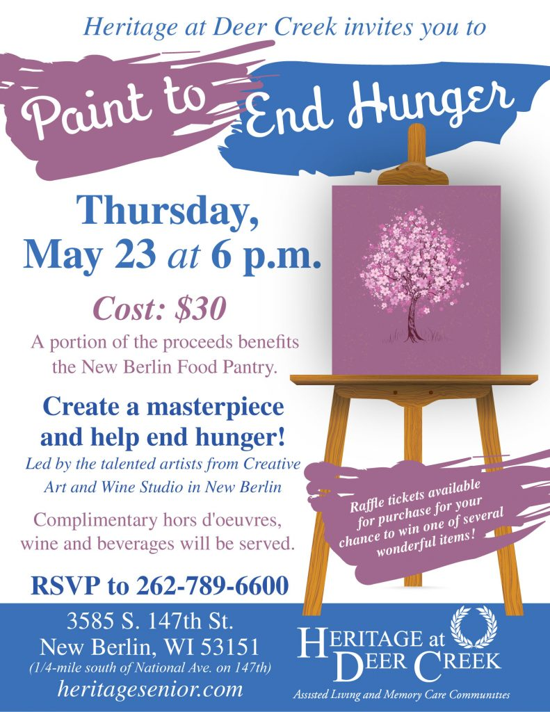 Heritage at Deer Creek Paint to End Hunger Food Pantry Fundraiser