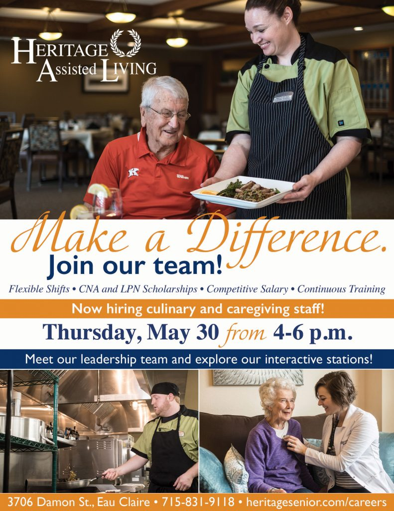 Heritage Assisted Living Eau Claire Hiring Event