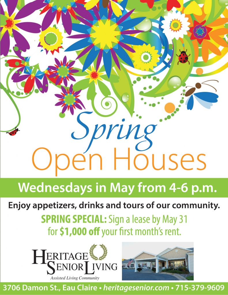 Heritage Assisted Living Eau Claire Spring Open House