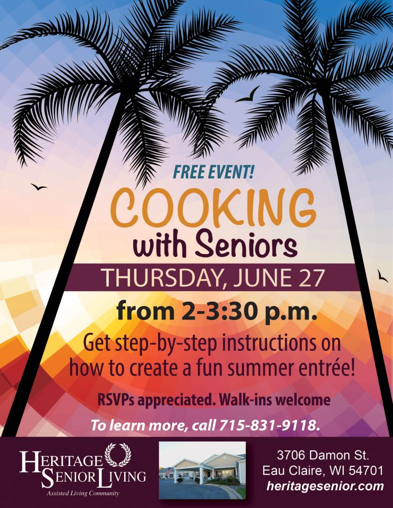 Heritage Eau Claire Assisted Living Cooking with Seniors