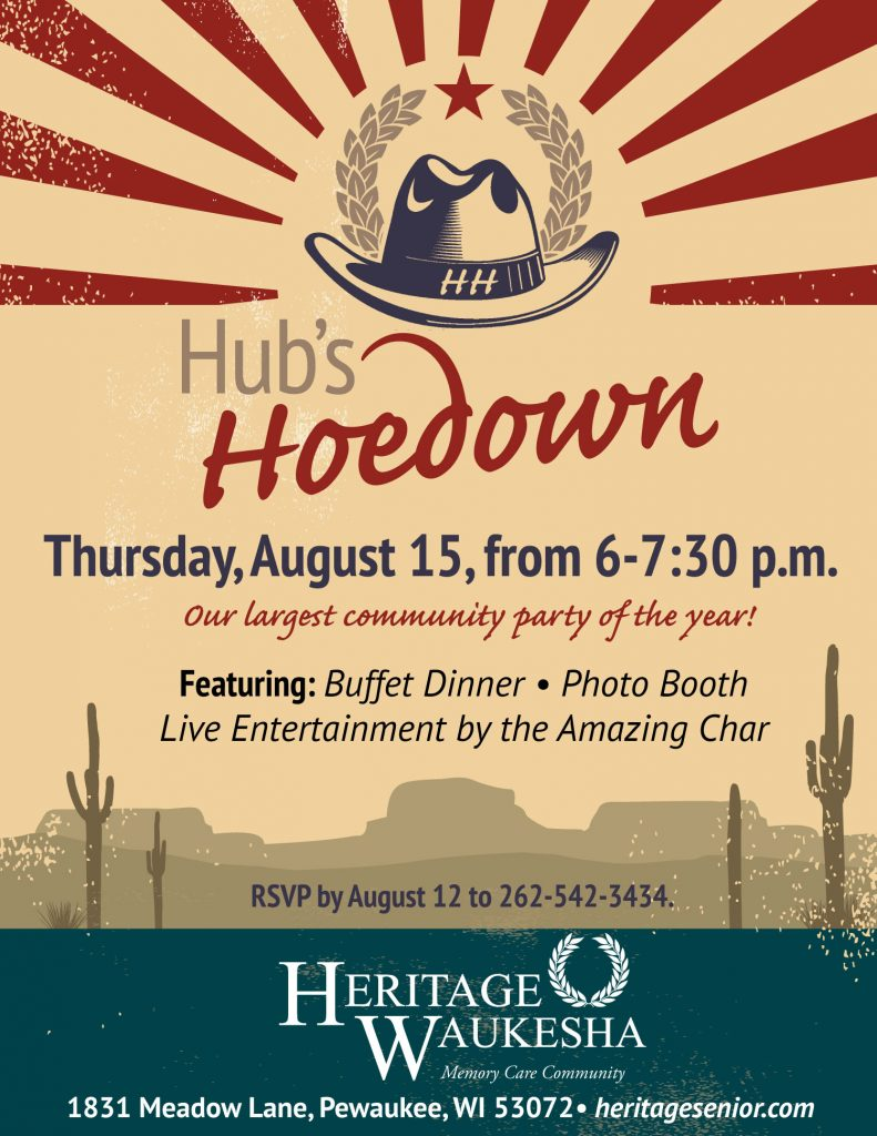 Heritage Senior Living Waukesha Hub's Hoedown Cookout Party