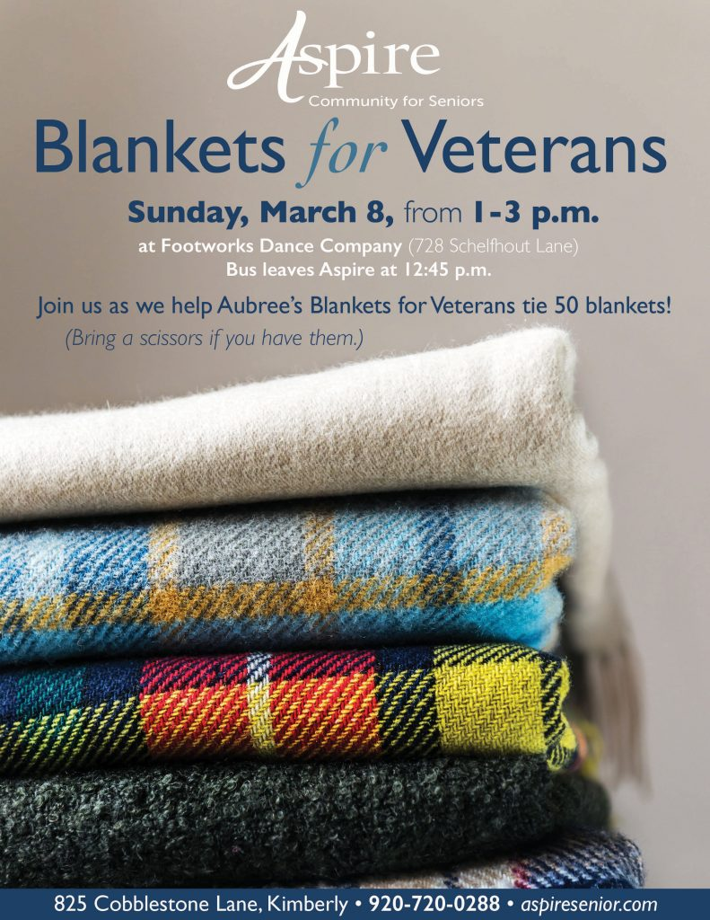 Aspire Senior Living Blankets for Veterans